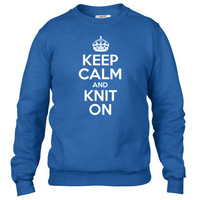 Keep Calm And Knit On Crewneck sweatshirt