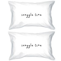 Bold Statement Pillowcases 300-Thread-Count Standard Size 20 x 31 - Snuggle Time