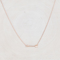 Fortune's Arrow Necklace - Rose Gold