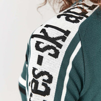 Urban Outfitters Green Verbiage Sleeve Jumper - Urban Outfitters