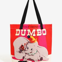 Licensed cool Loungefly Walt DISNEY Dumbo Elephant & Timothy Mouse Canvas Tote Bag Purse NEW