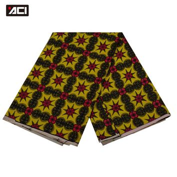 ACI-Aliexpress Coupon African Fabric Retail Display 6 Yards Fashion Design Ankara Fabric African Real Wax Print For Party Dress
