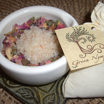 Bath Tea - The BOTANICAL BATH Collection - Spa Soak - Bath Salts, Herbs, Oils - All-Natural