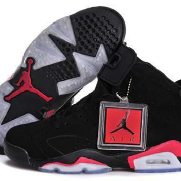 Hot Nike Air Jordan 6 Retro Women Shoes Deep Infrared Black
