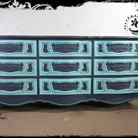 French Provincial Hand painted Dresser ASCP