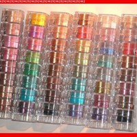 Micabella Natural Mineral Makeup 6x8 Stacks candy.brown eyes,glitter,tropical,vibrant,bronzer, Shimmers 48 Pc