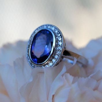 LA VIOLETTE Tanzanite Diamond Gold Ring by EidelPrecious on Etsy