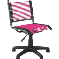 Bungee Low Back Chair - Pink and Black