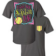 Southern Couture Livin the Softball Life Sports Chevron Faux Pocket Girlie Bright T Shirt