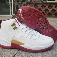 Air Jordan 12 Retro White/Wine Red
