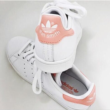 Unisex Men & Women Casual Sport Print Adidas Stan Smith Shoe Pink