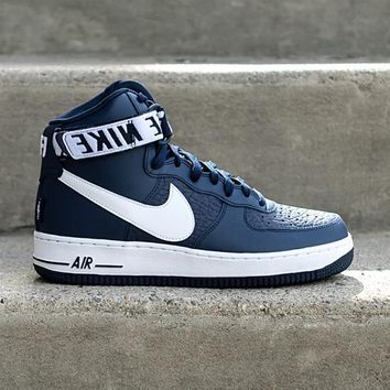 qiyif NIKE - Men - Air Force 1 High - Navy/White