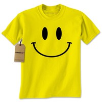 Big Smiley Face Fun Emoji Mens T-shirt