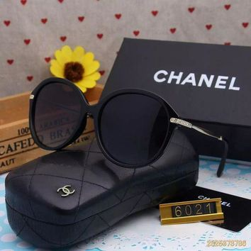 DCCKU62 Original Chanel Fashion New Design Polarized Flash Lenses Sunglasses 6021 - 184