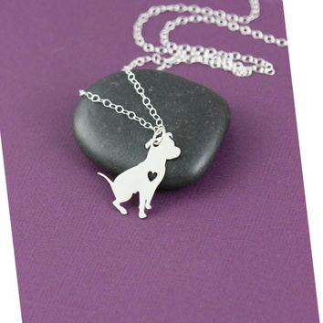 SALE Pit Bull Necklace Pitbull Jewelry Custom Dog Necklace Pendant Dog Jewelry Christmas Gifts Personalized Pets New Puppy Gift