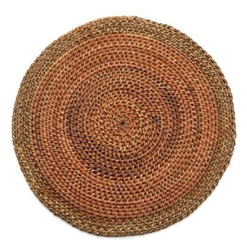 Shaded Rattan Placemat - S/2 Copper