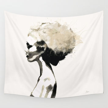 Serene - Digital fashion illustration / painting Wall Tapestry by Allison Reich