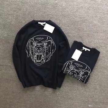 2017 New Autumn famous Brand Men Casual Sweater O-Neck Slim Fit Knitting DOG head Sweaters And Pullovers Men Pullover Winter Mal