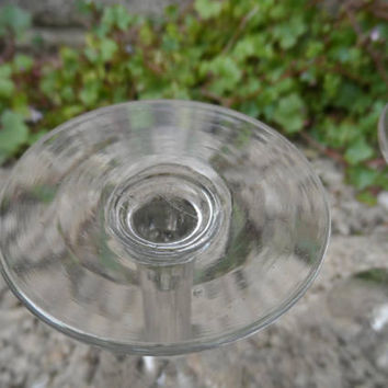 Antique glass - ale wine pub glass - Victorian stemware - pair of antique wine table glass - vintage party glass - 19th century pub decor