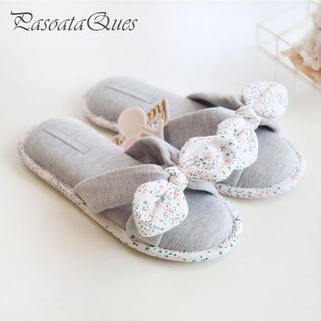 New Spring Summer Flip Flops Women Slippers Cotton Indoor House Home Bedroom Women Shoes Pasoataques Brand