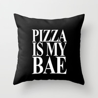 Pizza is My Bae Throw Pillow by productoslocos | Society6