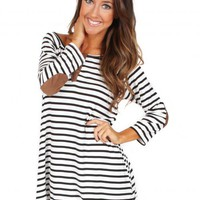 Give A Little More Black And White Striped Tunic | Monday Dress Boutique