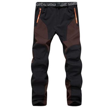 VONE05F8 men waterproof windproof outdoor sports warm thick pants trousers
