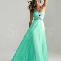 Buy Stunning A-line Sweetheart Floor Length Prom Dress with Rhinestones  under 200-SinoAnt.com