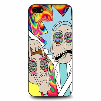Rick And Morty Eyes Open Trip iPhone 5/5s/SE Case