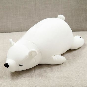 30cm Polar Bear Soft Stuffed Toy Nanoparticle Stuffed Doll Polar Bear Nano Doll Cute Plush Toy Gift For Lovers Kids