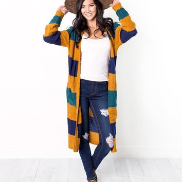 Jackie Color Block Duster Cardigan