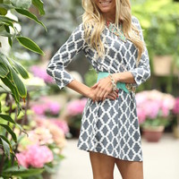 Midnight Lily Tunic Dress Gray
