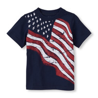 waving flag graphic tee | US Store