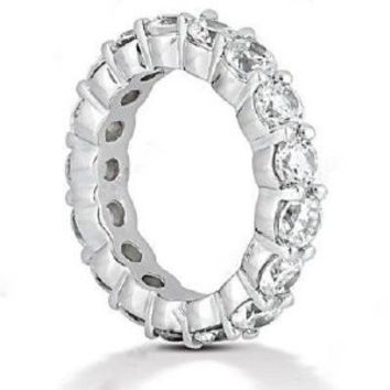 Blount Jewels 5 Carat F-g/vs Round Diamond Eternity Band In 18k Gold
