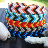 Beach Inspired Chevron Friendship Bracelets by WristsAre4Bracelets