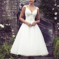 tb-bb-etta  Tea length bridal dress