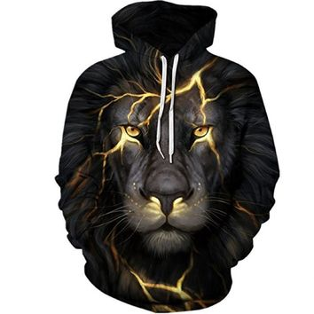 Black and Gold Lion Hoodie - BAWS