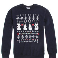 Riot Society Snowman Crew Fleece at PacSun.com