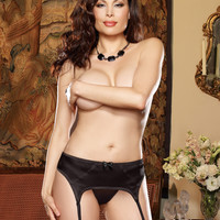Plus Size Elegant Persuasion Satin Garter Belt