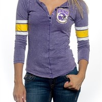 Minnesota Vikings Womens Vintage Raglan Top | SportyThreads.com