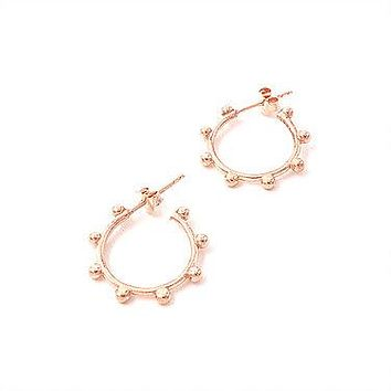 Little Balls Hoop Earring 925 Sterling Silver