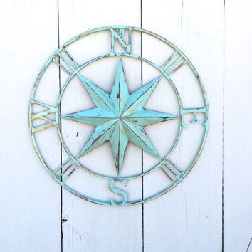 Nautical Wall Art, Metal Compass Wall Art, Nautical Wall Art, Nautical Decor, Metal Compass Decor, Metal Wall Decor, Nautical Wall Art