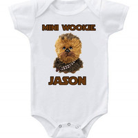 Personalized Funny Custom Baby Bodysuits Creeper Star Wars Wookie Mini Wookie