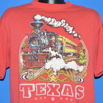 90s Texas Steam Train Engine Railroad t-shirt Extra Large