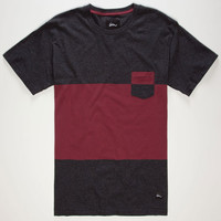Imperial Motion Midway Slubby Mens Pocket Tee Charcoal  In Sizes