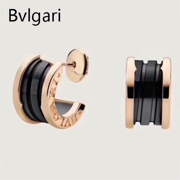 Bvlgari ZERO 1 New fashion sterling silver personality earring Golden