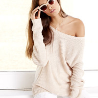 Snuggler's Cove Beige Sweater