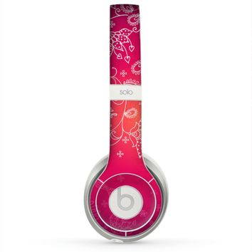 The Glowing Pink & White Lace Skin for the Beats by Dre Solo 2 Headphones