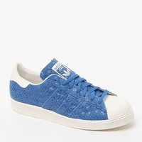 adidas Superstar 80's Blue Low-Top Sneakers - Womens Shoes - Blue