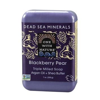 One With Nature Dead Sea Minerals Bar Soap  - Blackberry Pear - 7 oz